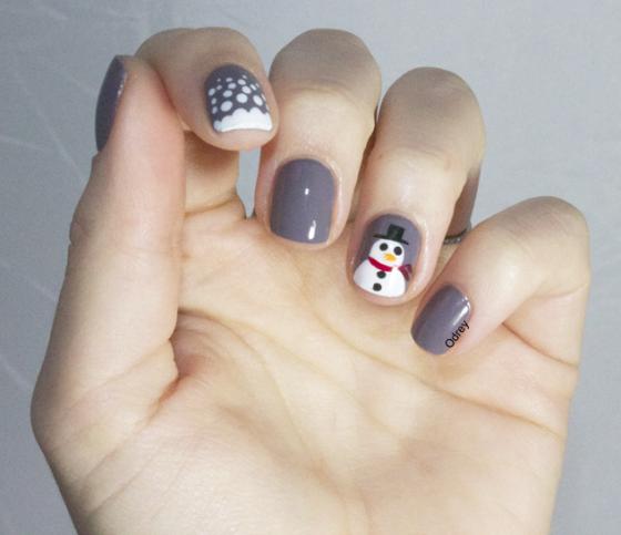 nail art bonhomme de neige