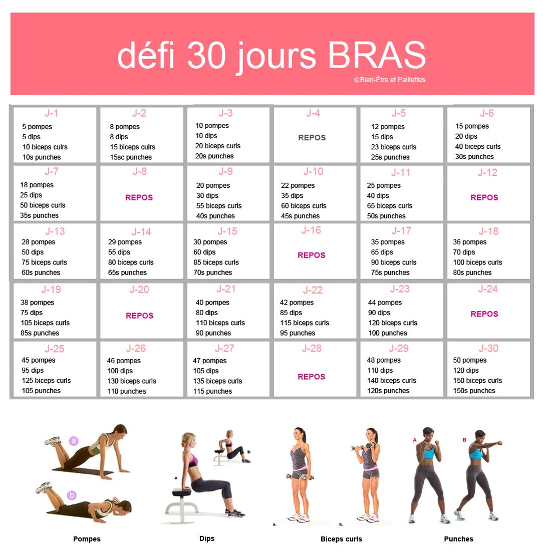 Super Votre nouveau défi 30 jours pour des bras sexy XU02