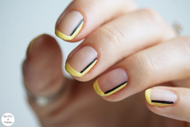 nail-art-jaune-et-noir-simple-4