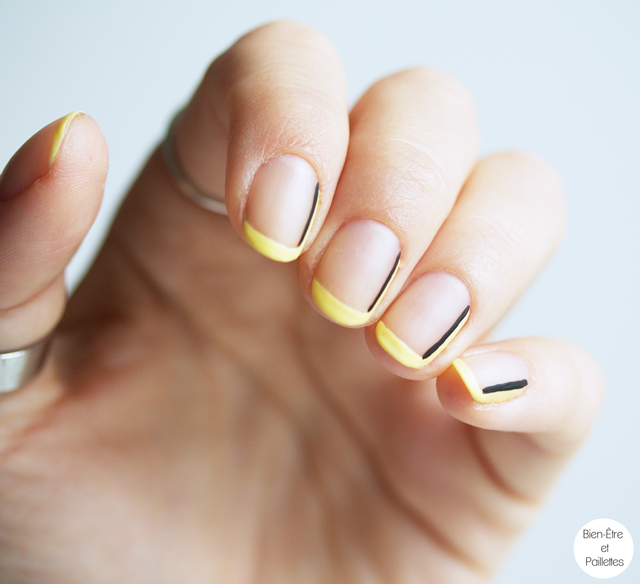nail-art-jaune-et-noir-simple-5
