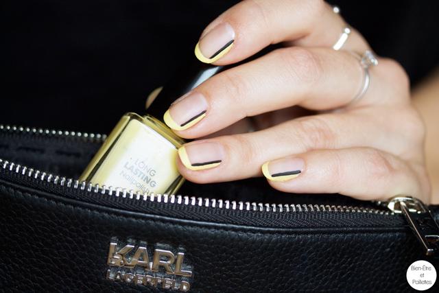 nail-art-jaune-et-noir-simple-6